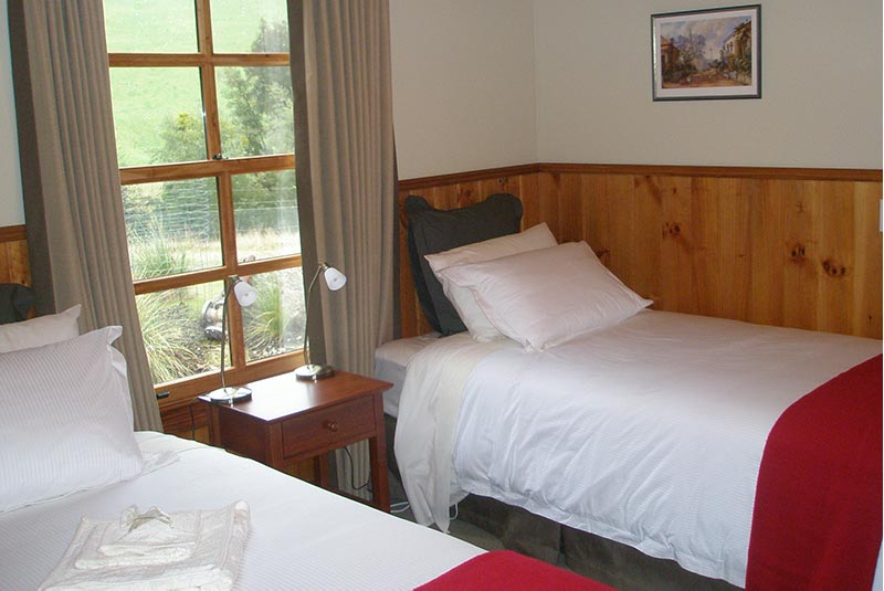 The second bedroom has two king-single beds