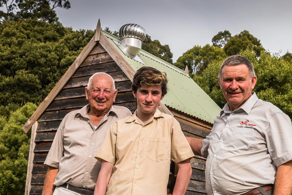 80 year-old Ron, 13 year-old James and 65-year-old Graham