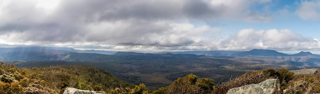 View towards Mount Victoria from the summit of Mount Saddleback