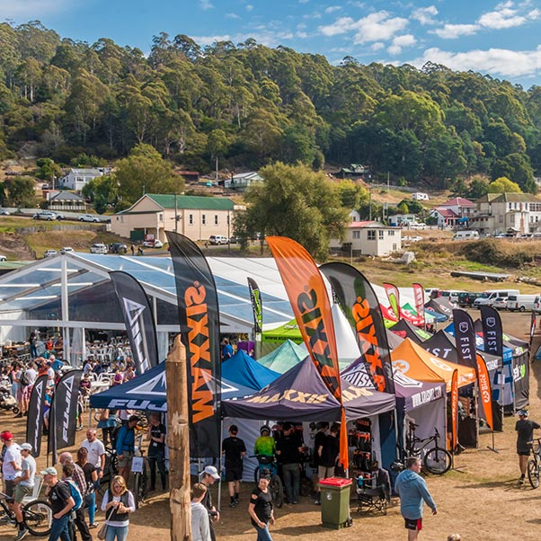 The EWS village in Derby Tasmania 2017.