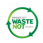 Green circle logo of the Waste-Not-Awards