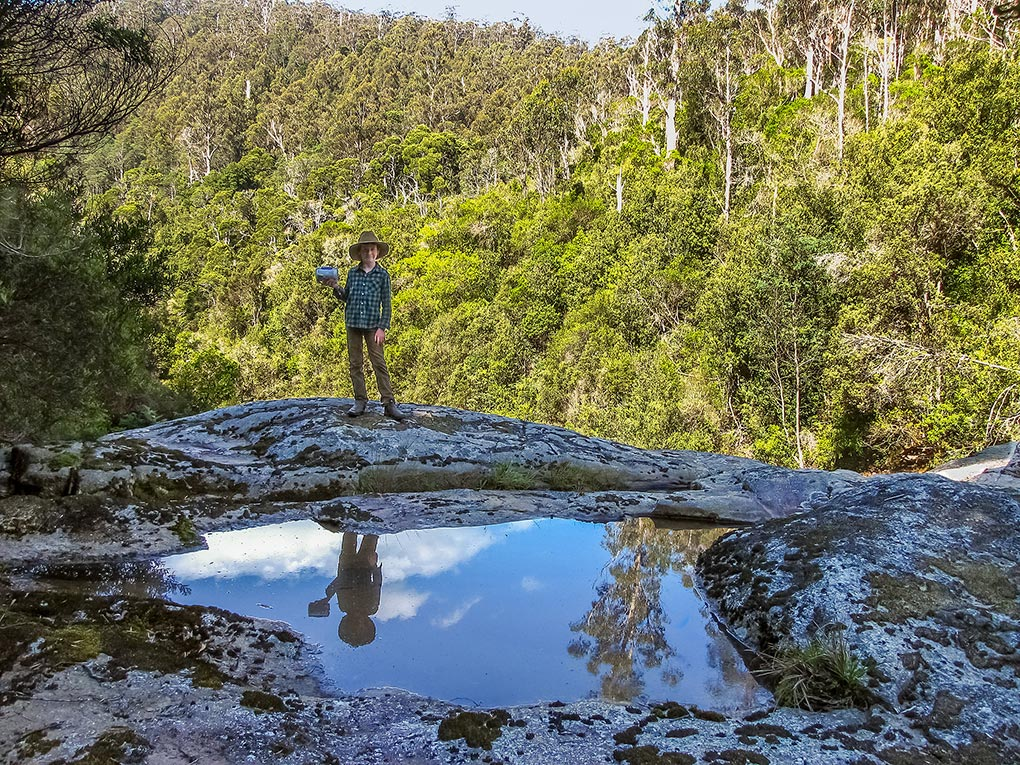 On top of Harridge Falls, Tasmania