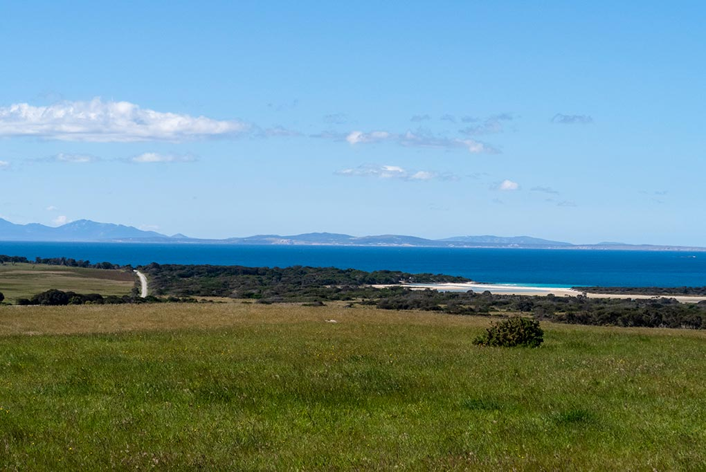 The view our to Cape Barron and Flinders Islands from the Tebrakunna Visitor Centre, North East Tasmania