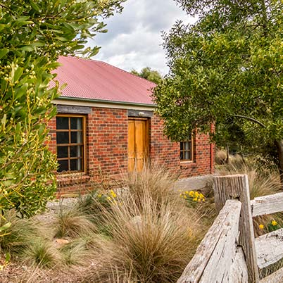 Ah Ping two-bedroom brick family cottage at Tin Dragon Cottages is suitable for a family holiday in Tasmania.
