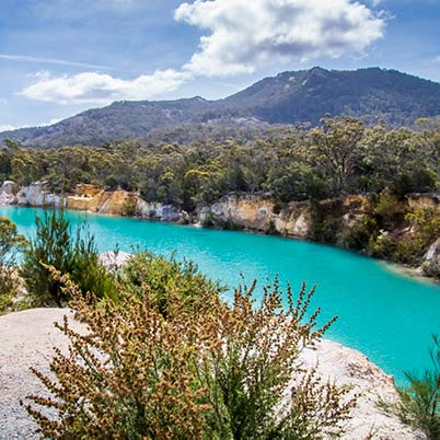 Little Blue Lake near South Mr Cameron in North East Tasmania