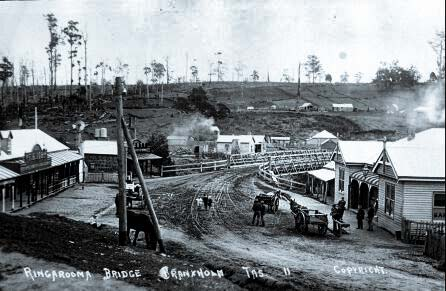 Ringarooma Bridge in pre-federation Branxholm late 1800's.