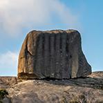 Cube rock in North East Tasmania